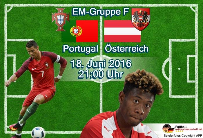 Portugal und Österreich treffen bei der EM heute aufeinander