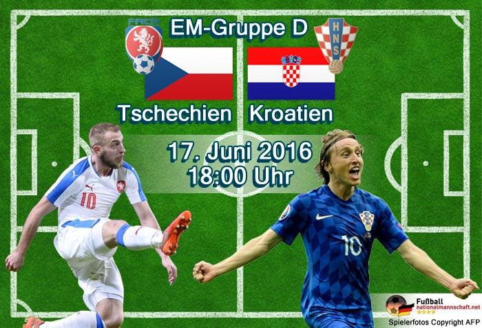 Tschechien - Kroatien bei der EM 2016