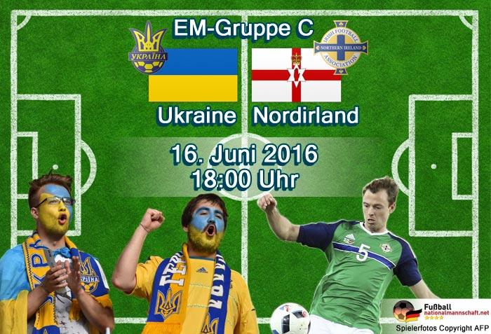 EM 2016: Ukraine - Nordirland