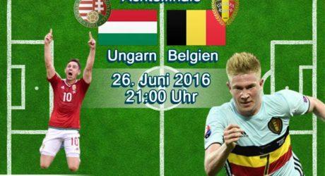 Fußball heute EM Achtelfinale 2016 ** 4:0 ** Belgien gegen Ungarn um 21 Uhr live im ZDF + EM Liveticker