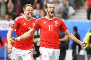 Gareth Bale mit Wales heute im EM-Viertelfinale gegen Belgien