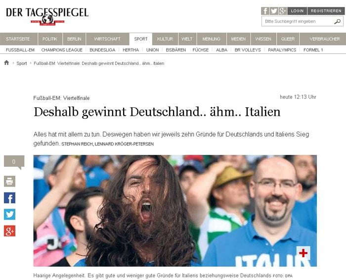 Pressestimmen zum EM-Viertelfinale Deutschland - Italien