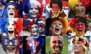 Deutschland gegen Frankreich - die Fans zittern heute Abend mit ! AFP PHOTO