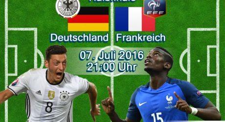 Fußball heute EM 2016 Liveticker ** 0:2 Niederlage * Deutschland – Frankreich * Halbfinale live ZDF , EM Livestream & EM Liveticker