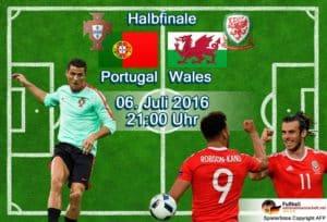 EM-Halbfinale Portugal - Wales