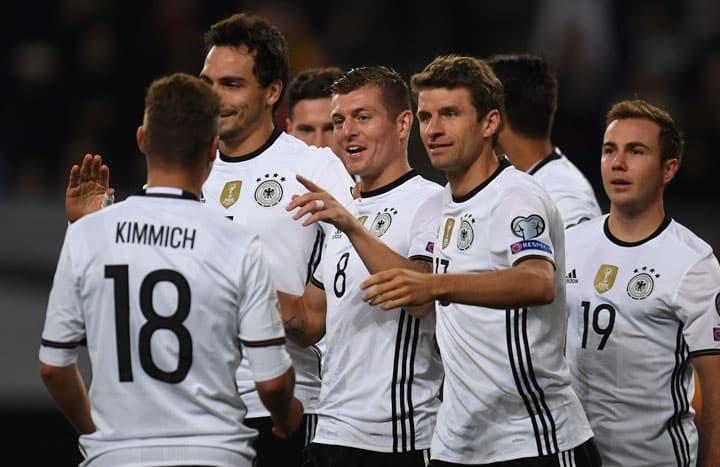 Deutschland gewinnt mit 3:0 gegen Tschechien am 8.Oktober 2016 - die Torflaute scheint vorbei zu sein! / AFP PHOTO / PATRIK STOLLARZ