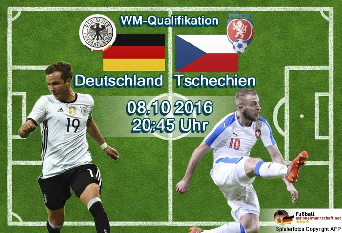 Länderspiel WM 2018 Qualifikation: Deutschland gegen Tschechien am 08.10.2016