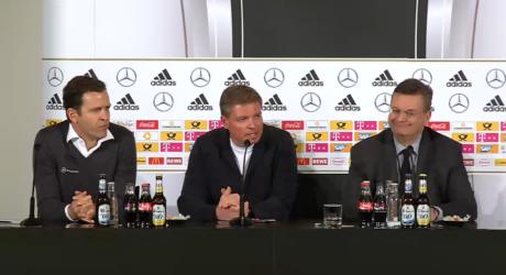 DFB Pressekonferenz heute mit DFB-Präsident Grindel, Bundestrainer Jogi Löw & Oliver Bierhoff