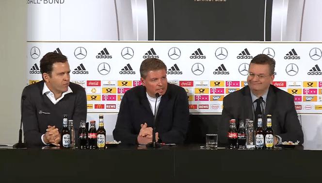 DFB Pressekonfernez am 14.11.2016 mit Löw, Bierhoff und Grindel