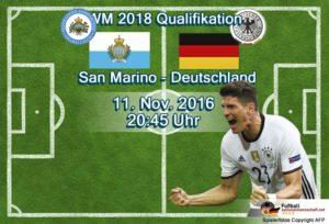 In derf WM-Qualifikation steht heute das Spiel San Marino gegen Deutschland an