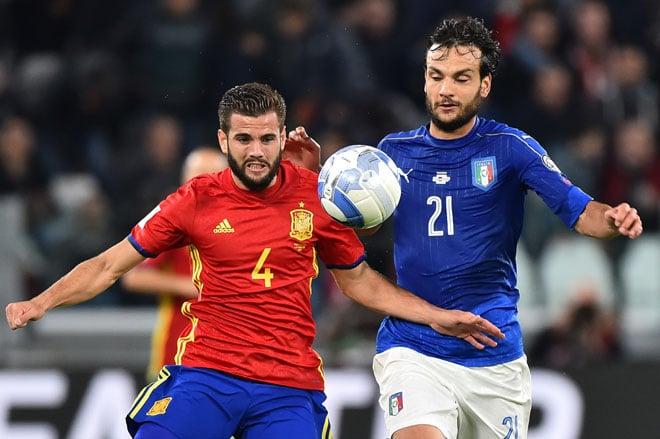 Fußball WM-Qualifikation 2018 heute: Vorschau auf die Gruppen E, F, G: Spanien gegen Italien - der Klassiker in der Gruppe G (Foto AFP)