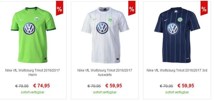 Die aktuellen VfL Wolfsburg Trikots