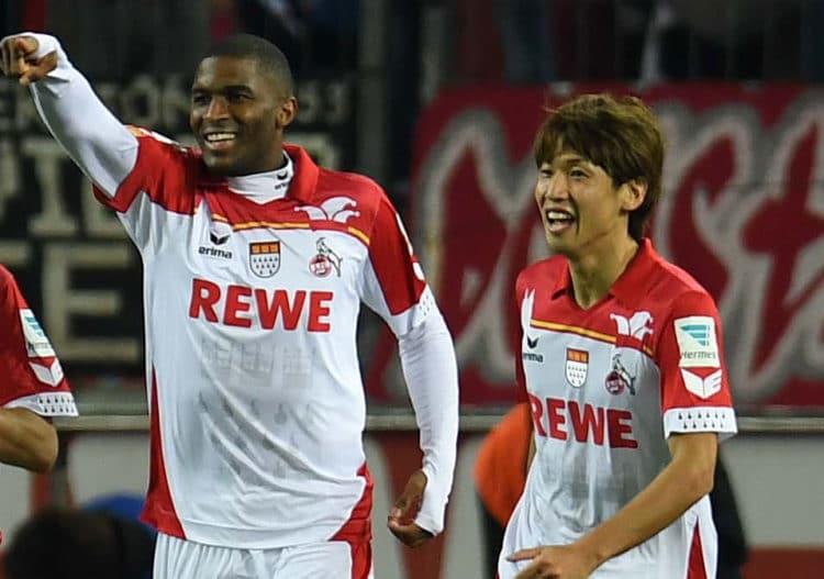 Das Fastelovend-Trikot des 1.FC Kölns zur Karnevalszeit. /AFP PHOTO