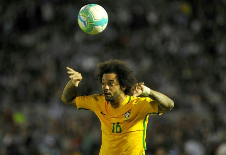 Brasiliens Marcelo in der WM-Qualifikation gegen Uruguay am 23.Mäz 2017. / AFP PHOTO / DANTE FERNANDEZ