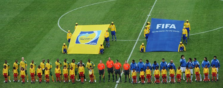 Südafrika und der Irak bestreiten das Eröffungsspiel des Confed Cup 2009 in Südafrika am 14.Juni 2009. AFP PHOTO / VINCENZO PINTO