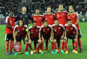 Österreich steht am 6. Spieltag der Gruppe D bereits mit dem Rücken zur Wand. Alles andere als ein Sieg könnte die Hoffnungen auf eine Teilnahme an der WM 2018 bereits frühzeitig zerschlagen. Photo: AFP.