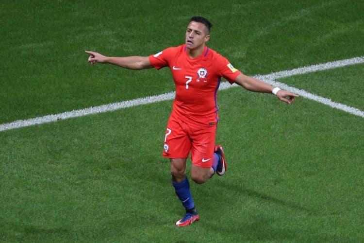 Alex Sanchez zum 1:0 gegen Deutschland beim Confed Cup 2017 (Foto AFP)