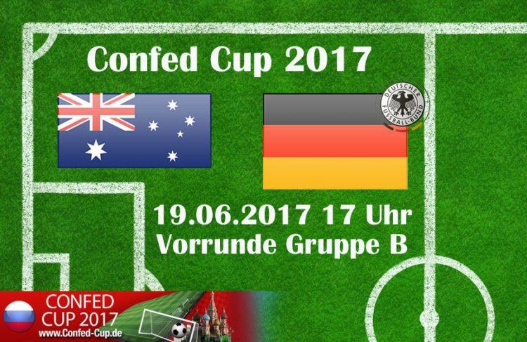 Deutschland gegen Australien beim Confed Cup 2017.
