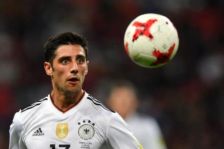 """Lars Stindl mit dem 1:1 Ausgleich war gestern der """"Man of the Match"""" für die deutsche Mannschaft. Foto AFP"""