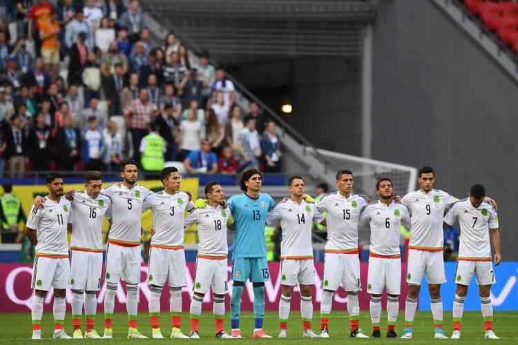 Mexiko beim Confed Cup 2017 in der Vorrunde gegen Portugal in der Kazan Arena am 18.Juni 2017. / AFP PHOTO / FRANCK FIFE