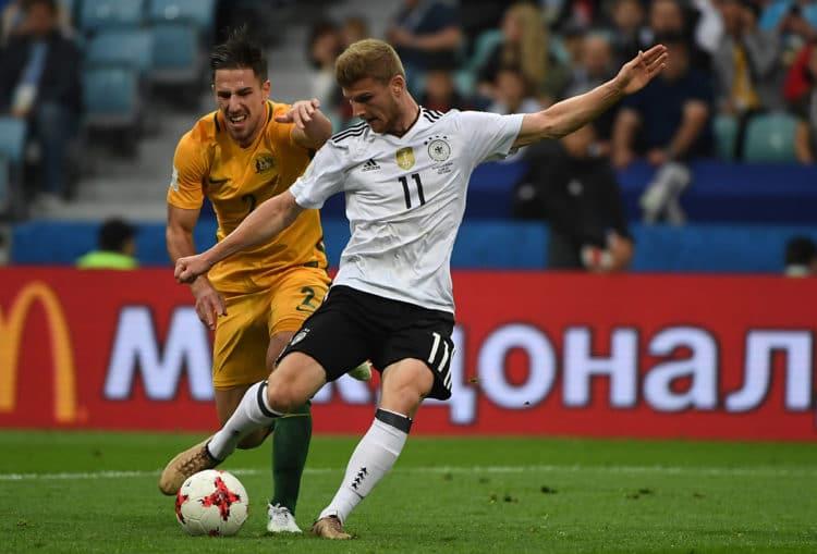 Timo Werner beim Confed-Cup Spiel Deutschland - Australien am 19.06.2017. Kann er gegen Chile entscheidende Akzente setzen?. Photo: AFP.