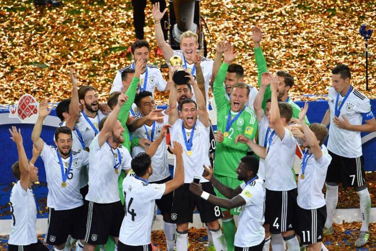 Deutschland gewinnt den Confed Cup 2017 durch ein 1:0 im Finale gegen Chile! Damit ist der DFB wieder an Platz 1 der Weltrangliste. (Foto AFP)