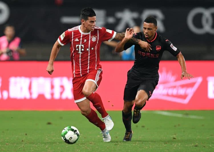 Der neue Star von Bayern München James Rodrigues. Heute Abend könnte er sein Champions-League Debüt für die Münchner geben. / AFP PHOTO / Johannes EISELE