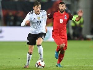 Leon Goretzka war mit seinen zwei Treffern gegen Aserbaidschan einer der Männer des Spiels. Photo: AFP.