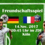 Aufstellung Länderspiele Deutschland 2017