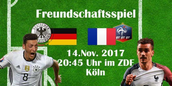 **Update** Fussball heute: Länderspiel Deutschland – Frankreich – Die Aufstellungen
