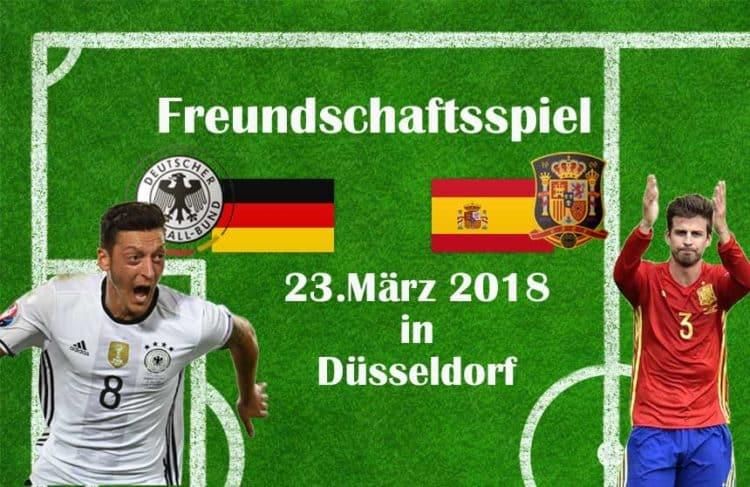 Am 23.März 2018 spielt Spanien wieder gegen Deutschland!