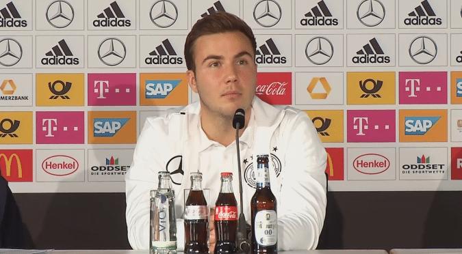 Mario Götze auf der DFB-Pressekonferenz