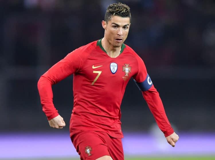 Portugals Superstar Cristiano Ronaldo am 23.März 2018 gegen Ägypten im neuen Heimtrikot von nike - in der Nachspielzeit erzielt er gleich zwei Tore! (Foto AFP)