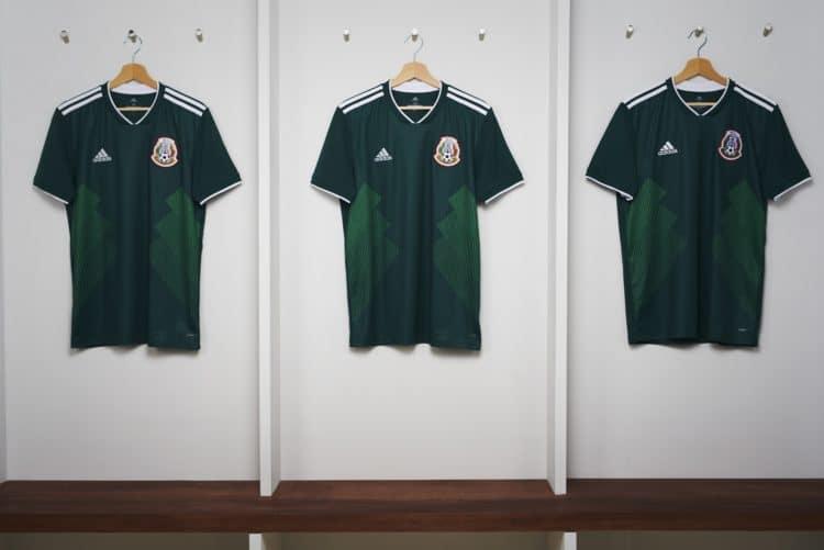 Das neue WM 2018 Heimtrikot von Mexiko wird vom deutschen Ausrüster Adidas hergestellt. Photo: Adidas Presse.