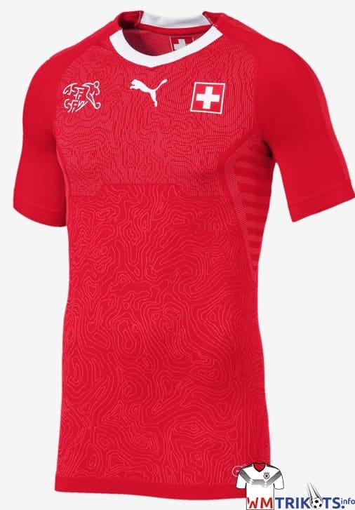 Das neue Heimtrikot der Schweiz zur WM 2018 von Puma. Photo: Puma Presse.