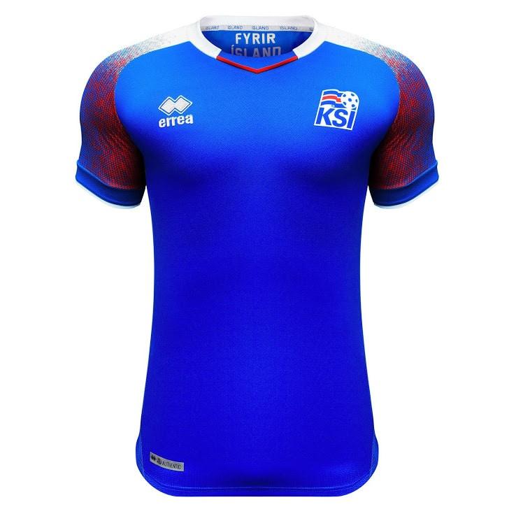 Islands neues Heimtrikot für die WM 2018 von Ausstatter Errea. Photo: Errea.