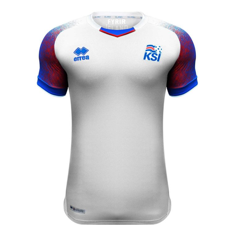 Islands neues WM 2018 Auswärtstrikot von Errea. Photo: Errea.