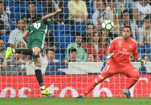 Costa Ricas Torwart Keylor Navas im Trikot seines Vereins Real Madrid. Photo: AFP.