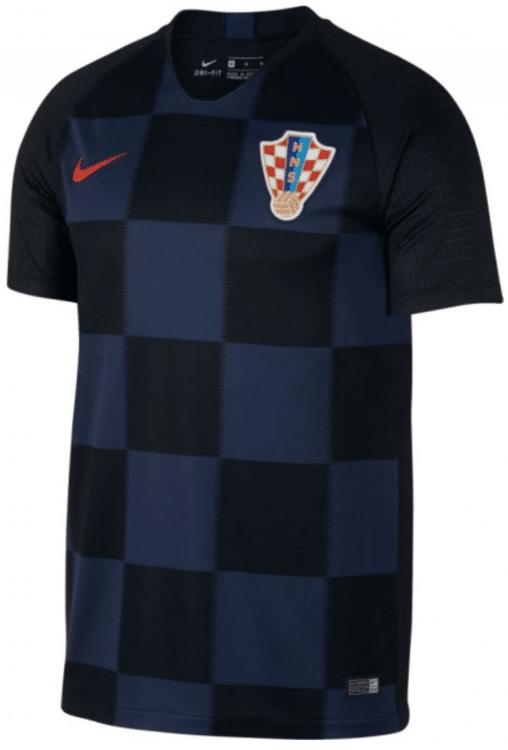 Kroatiens neues Auswärtstrikot von Nike für die WM 2018 in Russland. Photo: Nike.