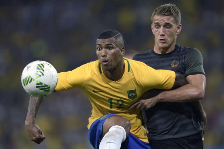 Nils Petersen im Finale von Olympia 2016 gegen den Brasilianer Walace am 20. August 2016. / AFP PHOTO / Juan Mabromata