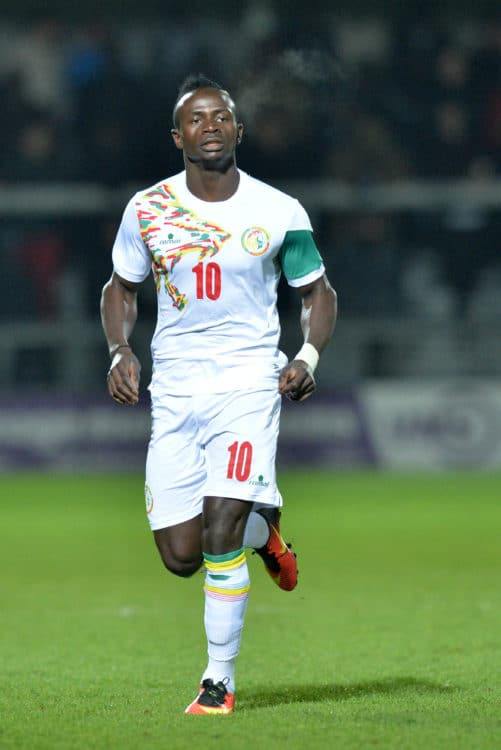 Senegals Stürmer Sadio Mané während eines Freundschaftsspiels des Senegal gegen Nigeria am 23. März 2017. / AFP PHOTO / OLLY GREENWOOD