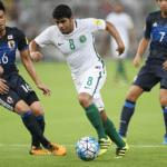 Saudi-Arabien in der WM 2018 Qualifikation gegen ihren Tabellenkonkurrenten aus Japan. Photo: AFP.