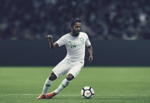 Saudi-Arabiens Nike Heimtrikot für die WM 2018. Photo: Nike Presse.
