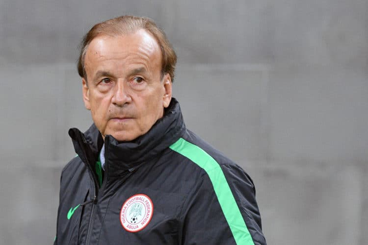 Nigerias deutscher Trainer Gernot Rohr. Photo: AFP.
