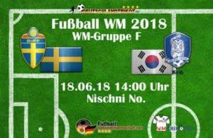 Fußball heute um 14 Uhr: Schweden gegen Südkorea