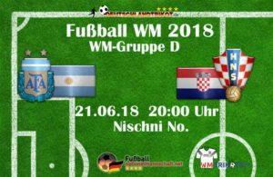 Fußball heute Argentinien gegen Kroatien in der WM Gruppe C