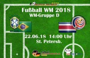 Fußball heute um 14 Uhr: Brasilien gegen Costa Rica