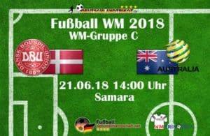Fußball heute Dänemark gegen Australien in der WM Gruppe C