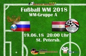 Fußball heute um 20 Uhr: Russland gegen Ägypten #RUSEGY
