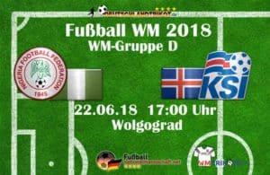 Fußball heute um 17 Uhr: Nigeria gegen Island
